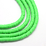 8mm Lime Disc Polymer Clay Beads(X-CLAY-R067-8.0mm-08)