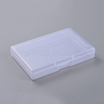 Contenants de perles en plastique transparent, boîte de rangement rectangulaire, clair, 7.5x10.7x1.8 cm(CON-WH0069-80)