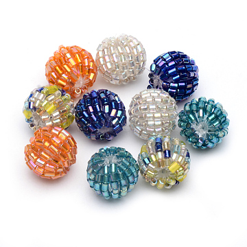 16mm Mixed Color Round Glass Beads