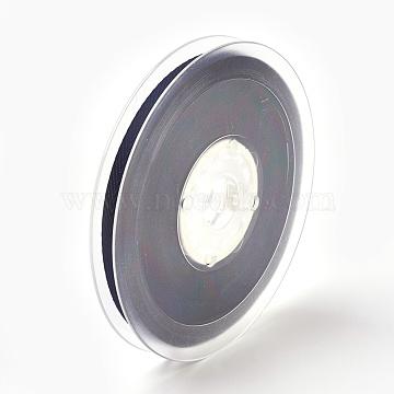 Rayon and Cotton Ribbon, Twill Tape Ribbon, Herringbone Ribbon, Prussian Blue, 5/8 inch(16mm), about 50yards/roll(45.72m/roll)(SRIB-F007-330-16mm)