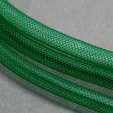 Plastic Net Thread Cord, DarkGreen, 10mm, 30Yards(PNT-Q003-10mm-13)