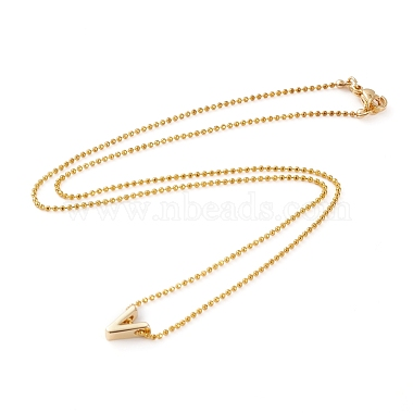 Golden Plated Brass Initial Pendant Necklaces(NJEW-JN03299-03)-3