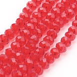 8mm Red Abacus Glass Beads(GR8mmY-47)