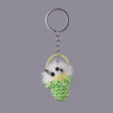 LawnGreen Fox Iron Key Chain