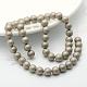 Круглый перлы раковины матовые бусины нити(BSHE-I002-10mm-15)-1