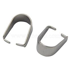 304 pression en acier inoxydable sur bails, taille: environ 8 mm de large, 10.5 mm de long, 0.5 mm d'épaisseur(X-STAS-Q007-1)