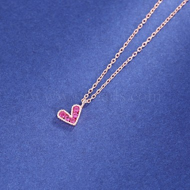 925 Sterling Silver Pendant Necklaces(NJEW-BB34627-RG)-4