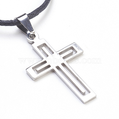 304 Stainless Steel Pendant Necklaces(NJEW-JN02174-02)-2