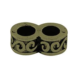 Тибетский стиль сплава многожильных ссылки, число 8, без свинца и без никеля , античная бронза, 8.5x16x6 мм, отверстие : 5 мм(X-TIBE-7944-AB-FF)