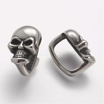 Antique Silver Skull Stainless Steel Charms