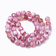 Natural Fire Agate Beads Strands(X-G-S295-16A-8mm)-2