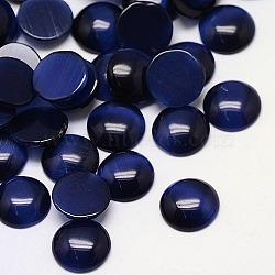 Кабошоны кошачьего глаза, полукруглый, темно-синий, 25x4.5 мм(CE-J002-25mm-30)