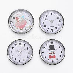 Composants de montres, plat rond, couleur mixte, platine, 40.5x9 mm; boitier montre: 36 mm(WACH-H041-01)