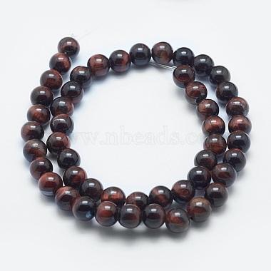 Natural Tiger Eye Beads Strands(G-K287-05-8mm-01)-2