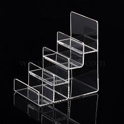 Affichages de bijoux en verre organique, clair, 155x100x170mm(ODIS-G010-01)