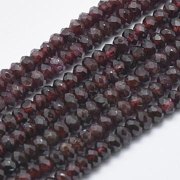 5mm Rondelle Garnet Beads