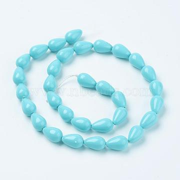 12mm SkyBlue Drop Shell Pearl Beads