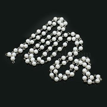 White Iron+Glass Handmade Chains Chain