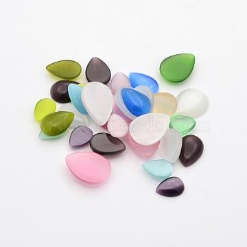 10mm Mixed Color Drop Glass Cabochons
