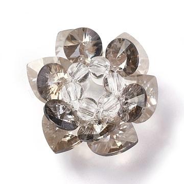 25mm DarkGray Flower Glass Beads