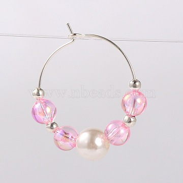 Pink Acrylic Wine Glass Charms