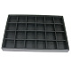 Stackable Wood Display Trays Covered By Black Leatherette(X-PCT107)-1