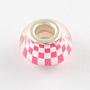 Camellia Rondelle Acrylic European Beads(OPDL-Q129-176A)