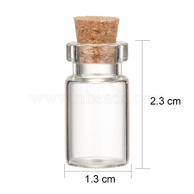 Glass Jar Glass Bottle Bead Containers(X-CON-Q014)-3