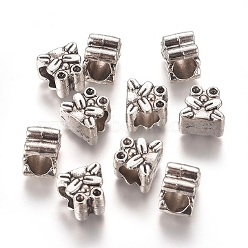 Antique Silver Frog Alloy Beads