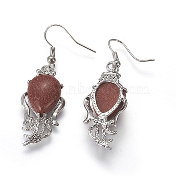 Goldstone Earrings