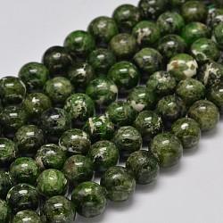 "Brins ronds de perles de diopside vert naturel, 8mm, trou: 1mm; environ 47 pcs/chapelet, 15.5""(G-F289-20-8mm)"
