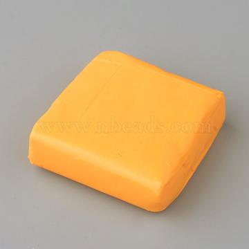 Eco-Friendly Polymer Clay Plasticine Toys, Children DIY Art Colorful Dough Plasticine DIY Craft, For Learning and Education Toys, Orange, 50~52x50~52x14~18mm(X-DIY-Q012-09)