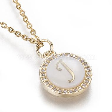 Brass Initial Pendant Necklaces(NJEW-I230-24G-J)-3