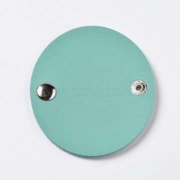 Earphone Leather Cable Winder, Cable Wire Holder, for Work and Travel, Turquoise, 88.5~89x77~78x5~5.5mm(X-AJEW-WH0079-E07)