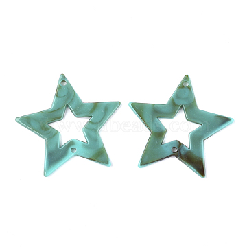 45mm DarkTurquoise Star Acrylic Connectors/Links