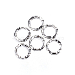 304 Stainless Steel Jump Rings, Close but Unsoldered Jump Rings, Stainless Steel Color, 20 Gauge, 4.5x0.8mm; Inner Diameter: 2.9mm; about 200pcs/10g(X-STAS-D448-097P-4.5mm)