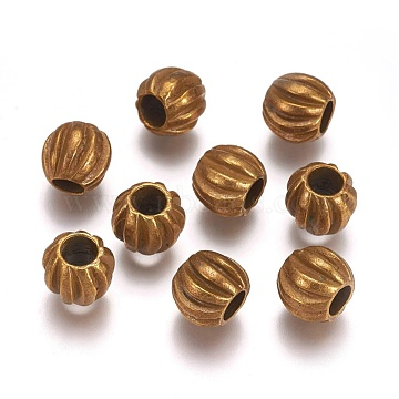 Antique Bronze Rondelle Alloy Beads