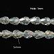 Plaquer des perles en verre à facettes en forme de larme(X-EGLA-D015-7x5mm-01)-1