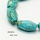 Natural Howlite Beads Strands(X-TURQ-C007-20x10mm-1)-1