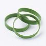 Olive Terne Silicone Bracelets(BJEW-J176-A-05)