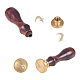 DIY Letter Scrapbook Brass Wax Seal Stamps and Wood Handle(AJEW-P068-C05)-3