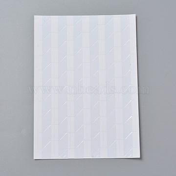 DIY Frame Scrapbook, Photo Album Corner Plastic Stickers, Seashell Color, 147x103x0.3mm; triangle: 12x15.5mm; about 102pcs/sheet(AJEW-WH0079-D01)