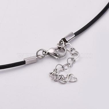 Resin & Wood Pendant Necklaces(NJEW-JN02332-04)-3
