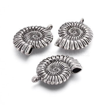 Thai Sterling Silver Plated Shell Alloy Pendants