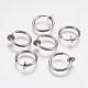 304 Stainless Steel Clip-on Hoop Earrings(STAS-I097-078P)-1