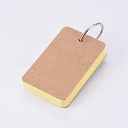 крафт-бумага для заметок, скоросшиватели легкие флип-карты изучают блокноты, желтый, 88x54x19 мм; о 50 лист / шт(BT-TAC0004-A01)