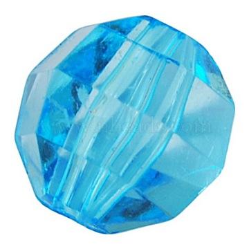 10mm SkyBlue Round Acrylic Beads