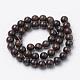 Natural Bronzite Beads Strands(G-S272-01-6mm)-2