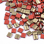 5mm Rouge Carré Verre Perles(SEED-S031-L-045-G)