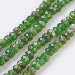 """Mèches naturelles de perles de diopsidel, facette, rondelle, 3x2~2.5mm, trou: 0.5mm; environ 174 pcs/chapelet, 15.3"""" (39 cm)(G-F568-050-A)"""
